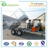 hot sale galvanized hydraulic tipping utility box semi trailer