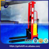 "Top quality heavy ""C"" type steel column steel manual hydraulic forklift truck flexible operation explosion-proof pallet stacker"
