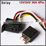 magnetic floatless relay 12v 24v 40a violet relay 5pin purpose relay auto flasher relay