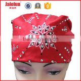 Promotion customize printed satin silk bandana scarf