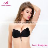 Bandeau Silicone Low Back Backless Adhesive Sticky Strapless Pushup Bra