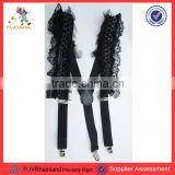 PGAC1163 Black color lace fashion dress suspenders for women sexy