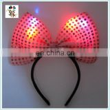 Cute Costume Party Fancy LED Flash Minnie Mouse Pink Bow Headbands HPC-0712