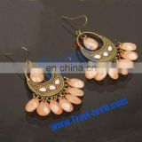 Charming Elegant Women Vintage Bohemia Earrings/National Style Beaded Eardrop Earrings
