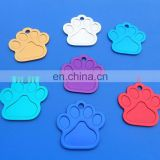 anodized aluminum 38*38*1mm paw dog tag pet dog
