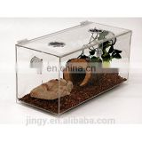 jingyue made clear acrylic feeding system lizard or turtle reptile cages