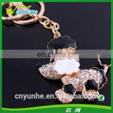 Little Cute Dog Rhinestone Keychain