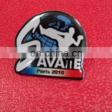 Customized shape Brass plating Lapel pin badge Offset printing with epoxy Metal/Custom badge