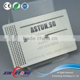 Polishing metal business card / stainless steel card with engraved words and cutting out