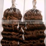 "18"" Human Hair Micro Loop Ring Hair Extensions Best Micro Bead"
