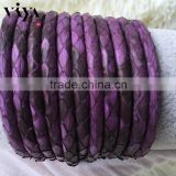 High Class Leather Cord Viya 2016 100% Genunie Stingray/Python Skin Rope for Leather Men Bracelet with Factory Wholesale Prices