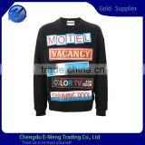 Wholesale Crew Neck High Quality OEM Extra Tall Hoodie With Full Print Sweatshirt