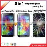 China alibaba hot sales 0.33mm privacy tempered glass screen protector for Samsung galaxy S5