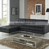 Genuine luxury italian leather florence knoll sectional sofa for sale