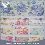 Efficient logistic service printed pu leather fabric glitter