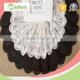 Dyeable customized embroidery bridal lace applique wedding dress lace                                                                                                         Supplier's Choice