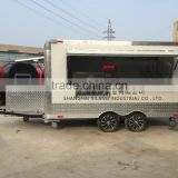 SILANG biaxial food truck White food trailer China's largest factory produce