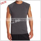 Breathable Cotton Sleeveless Muscle TShirt Sleeveless tank top Gym wear for Men