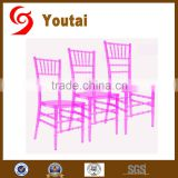 hot sale pink wedding acrylic banquet chair XC-009