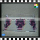 Modern clear Acrylic square printing pattern serving cup trays
