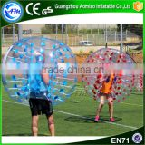 Cheap price PVC/TPU human sized soccer bubble ball for football                                                                                                         Supplier's Choice