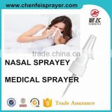 Bottles use plastic pump sprayer atomizer pump sprayer in any color 18 410 ribbed closure dischage rate is 0.12ml nasal spray