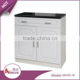 2015 China new model cupboard design 15mm mdf wood modern small white kitchen cabinet with pvc membrane