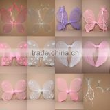 Wholesale fancy dress big angel wings muticolor fairy wings hot sale	baby butterfly wings WG4017