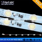 Edgemax hot sale 24V 3535 led strip with lenses 360mm led light strips 3 leds cuttable made in Shanghai