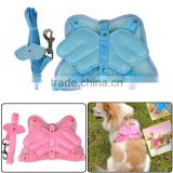 New Angel Wings Pet Dog Adjustable Safety Harness Mesh & Leash 2 Colors 7054