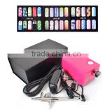 New Fashion Makeup Airbrush Pen Kit for Body Nail Paint with Air Compressor, 1 Hose, 2 Stencil AS-26