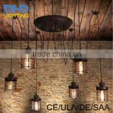 Loft vintage DIY RH Designer Loft American country industrial Warehouse Edison small cages chandelier for Home