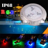 27W RGB LED underwater marine light, stainless steel 316 underwater boat light                                                                                                         Supplier's Choice