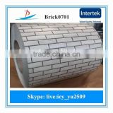 BRICK0701/pre-painted galvanized steel coil/ppgi used in the garden fence,decoration,the wall outside the house made in China