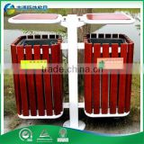 Cheap Customized outdoor decorative wooden recycling bin rubbish waste bin dustbin litter bin