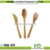 High quality wholesale fashion Wooden Spoons and Spatula Set for Serving and Cooking Tools wooden ice cream stick spoons