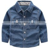 2016 kid boys spring fall long sleeves jeans shirt
