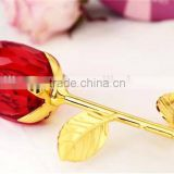 New gifts Artificial K9 crystal red crystal rose