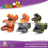 High quality pvc toy dinosaur hand puppet for adult