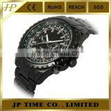 black tone 316l stainless steel case sub-dial decorated stainless steel watch stainless steel strap