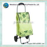 foldable trolley shopping bags wholesale/shopping cart bag/shopping bag with wheels