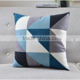 hot sale plain design geometry patchwork comfortable and soft chair sofa cushion pillow case