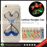 Samco Free Sample for iPhone 6 Lovely Heart Shape Flowing Quicksand Liquid Glitter Cellphone Case with Competitive Price
