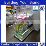 wire wall shelf retail equipment with hanging metal bracket