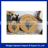 Christmas gifts wholesale cork tin coaster with customized logo printed