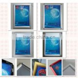 advertising picture frame front open 11*17 inch aluminum snap frame silver/black/white/gold/red 25mm clip frame