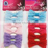 Colorful hair bows with net set(approved by BV)