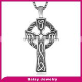 factory price Best Selling Stainless Steel jewelry celtic cross for men