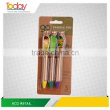 ECOZONE STAPLES Factory Eco-green promotional ball-point pen