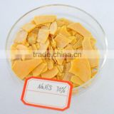 Hot sale!!China manufacturer Baijin 70% yellow flake NaHS industrial sodium sulphide